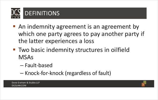 oilfield master service agreement