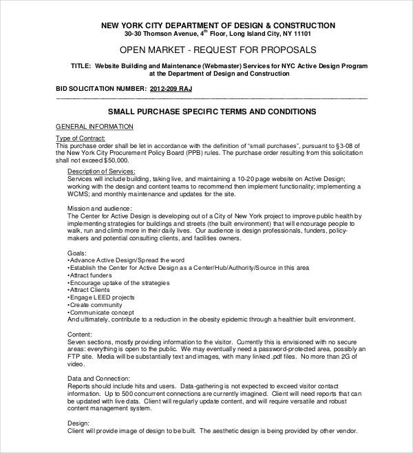 open market bid proposal
