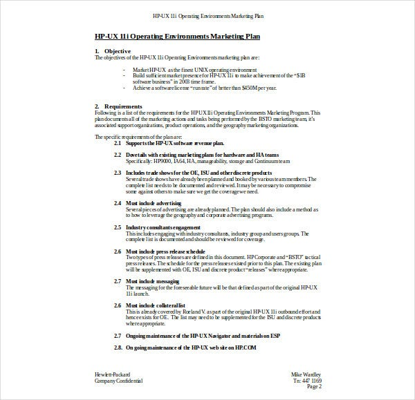 operating environment outbound marketing plan1