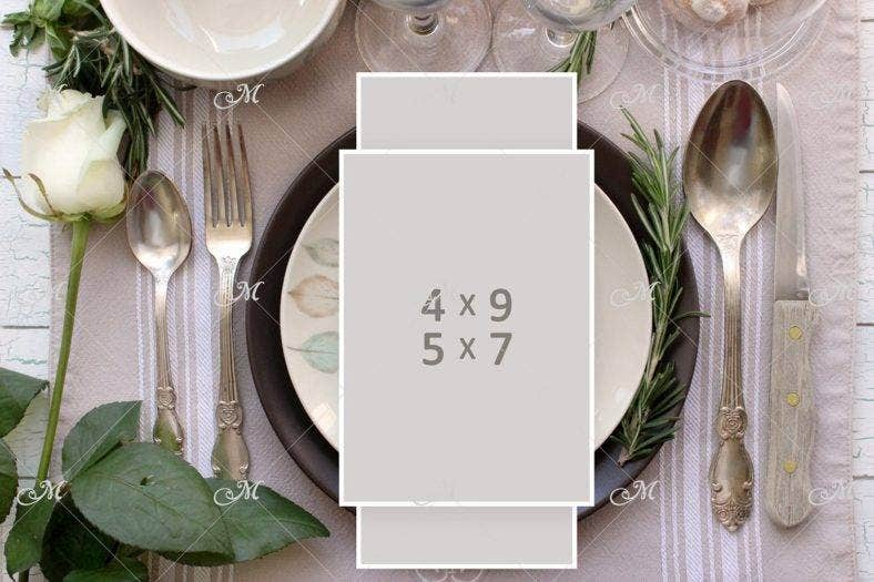 psd table place card mockup template 788x525