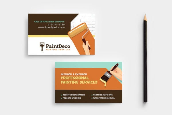 painter decorator business card