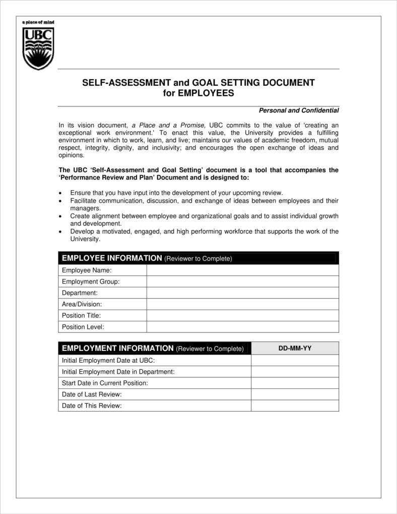 Employee Performance Evaluation Form Free Download Cash Sales Performance  Review Self Assessment 1 788x1019 Employee Performance  Employee Self Evaluation Forms Free