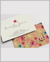 personalized-floral-business-card