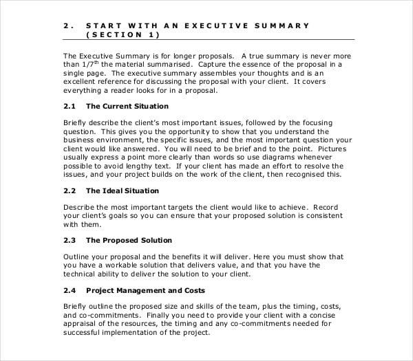 preparing effective technical proposal