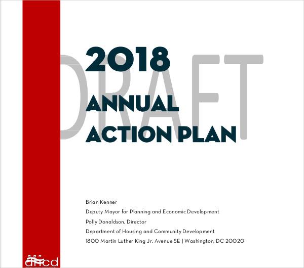 printable annual action plan