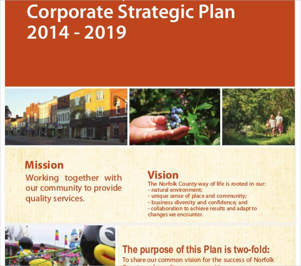 printable corporate strategic plan