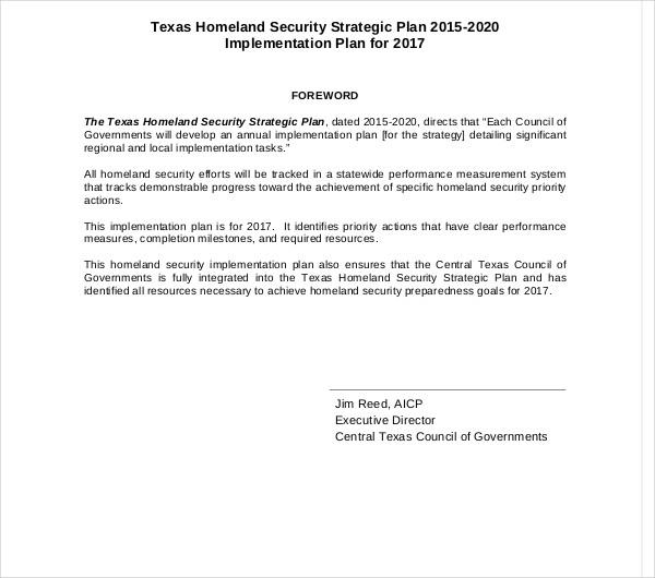 printable security strategic plan