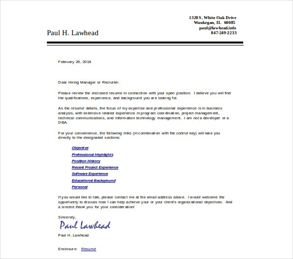 professional business resume