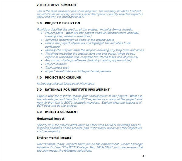 project business plan proposal