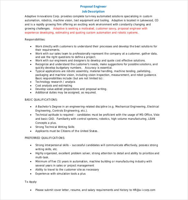 10+ Technical Writing Proposal Templates - PDF, DOC