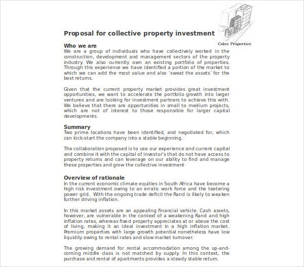 proposal for collective property investment