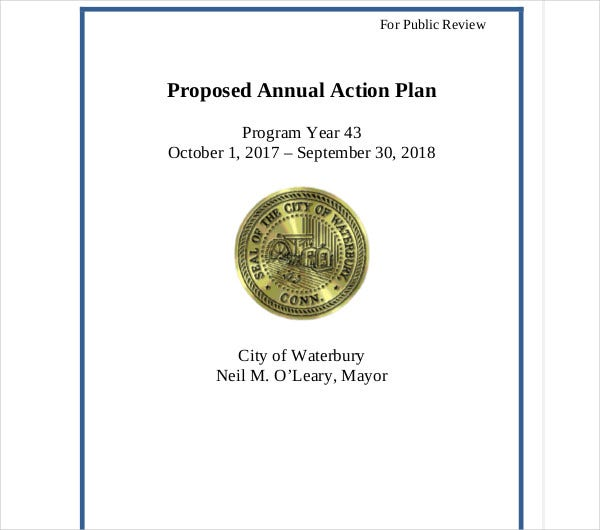 proposed annual action plan