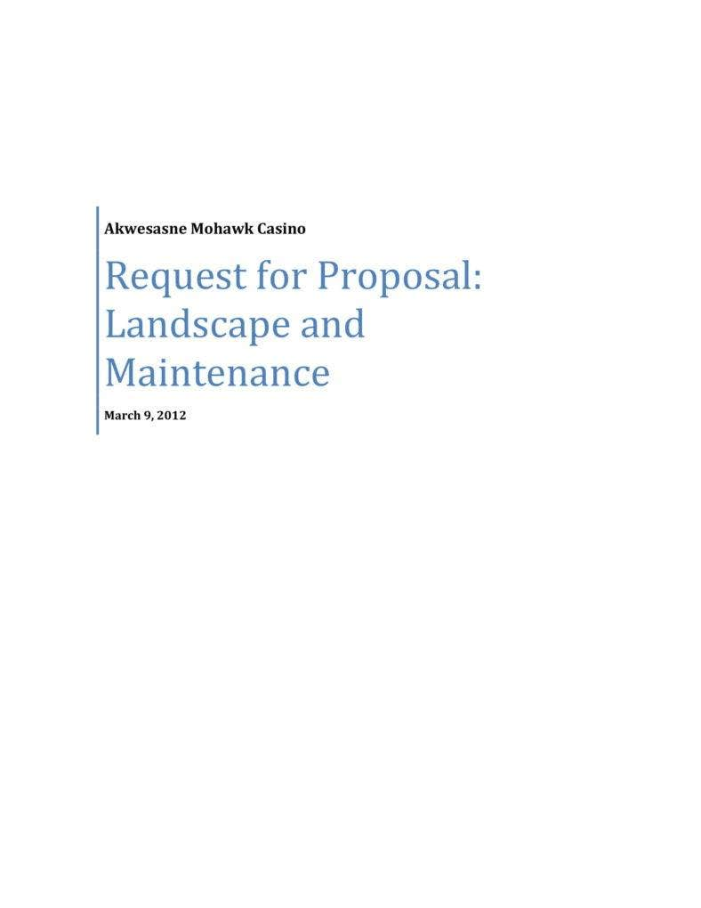 7 Importance Of Landscaping Proposals In Business Pdf Free