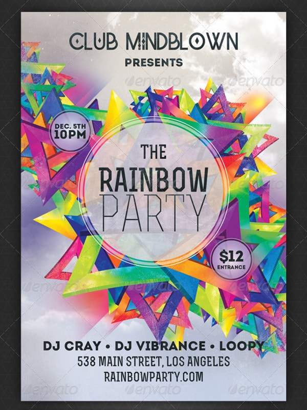 Rainbow Party Flyer Design