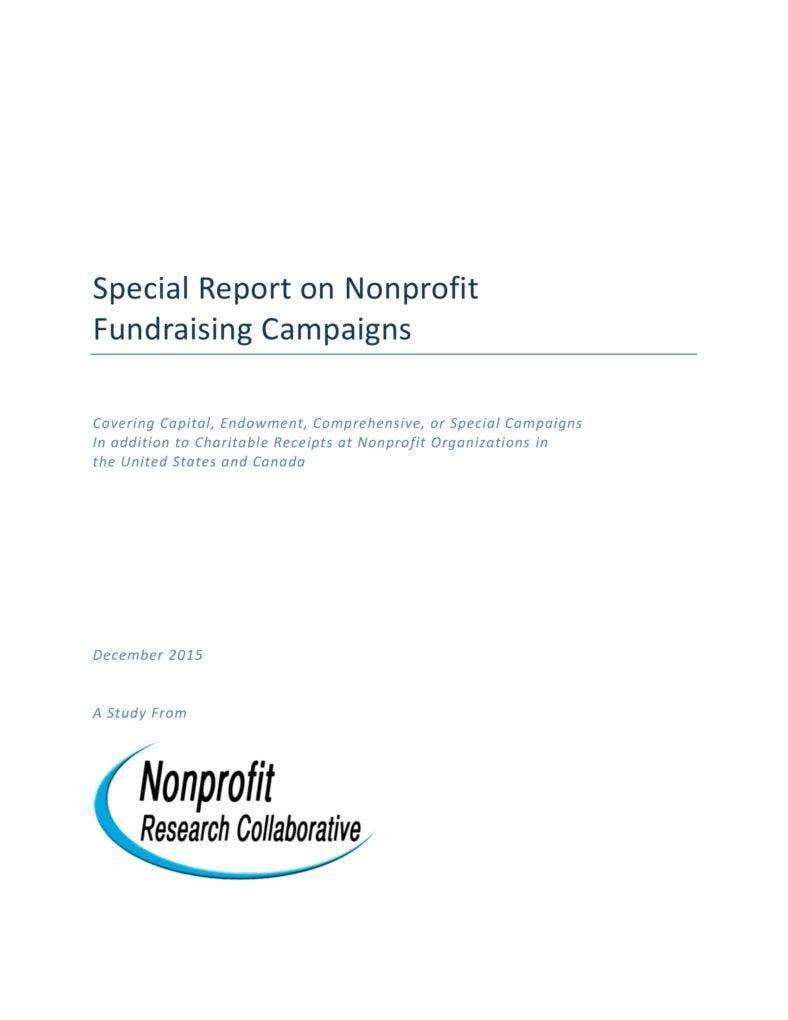 Report On Nonprofit Fundraising Campaigns
