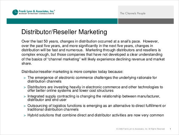 8+ Reseller Marketing Plan Templates - PDF, DOC | Free
