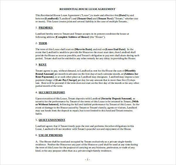 residential house lease agreement1