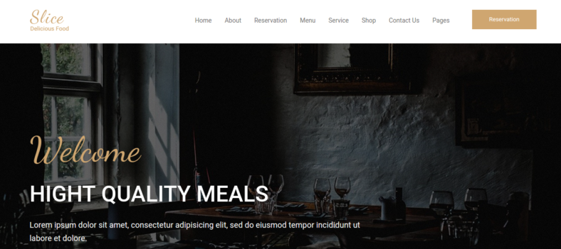 responsive restaurant bootstrap template 788x351