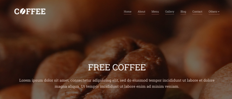 responsive restaurant cafe website template 788x338