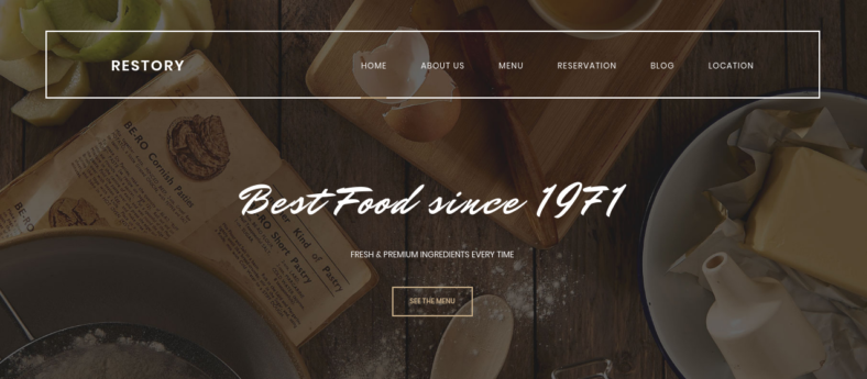 restaurant cafe html5 template 788x345