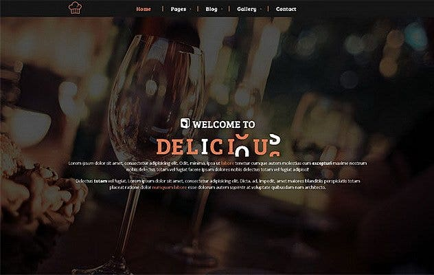 restaurant cafe website theme