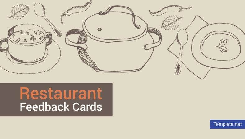 Restaurant Feedback Card Templates