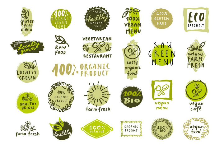 restaurant-organic-food-label-template-set