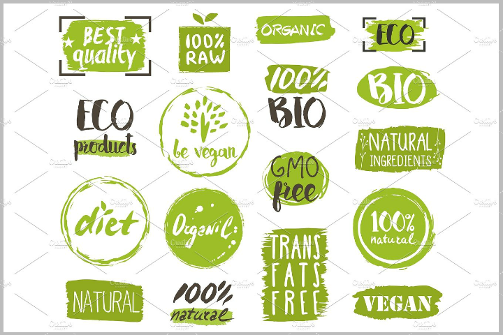 restaurant-organic-food-tags-and-labels-template-set