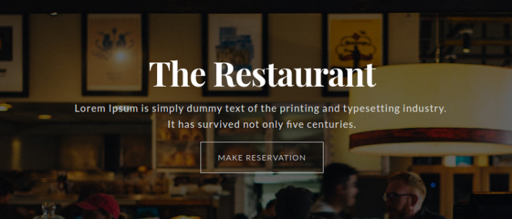 restaurant responsive one page template