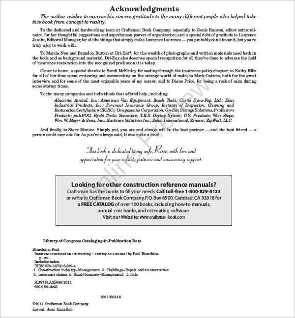 restoration business plan