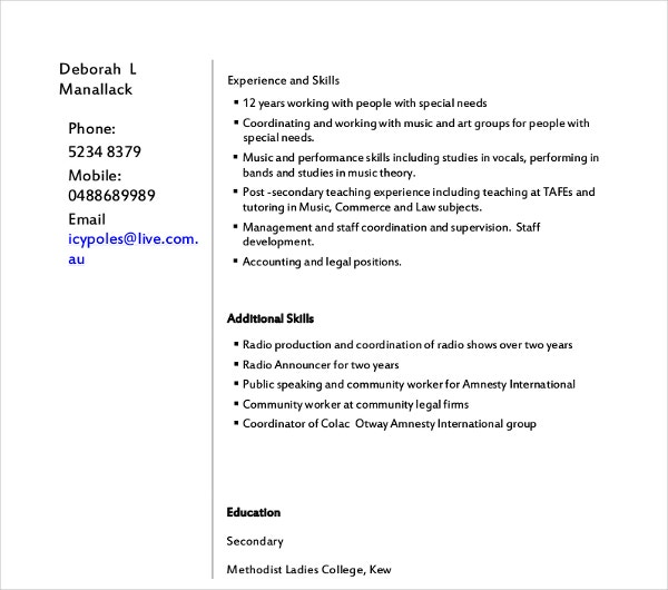 retail sales clerk resume