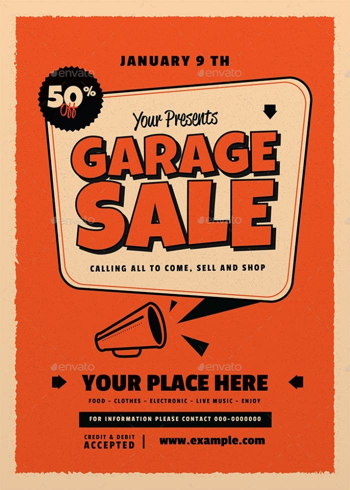 retro garage sale flyer1