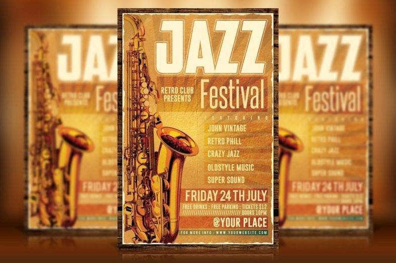 Retro Jazz Flyer Template