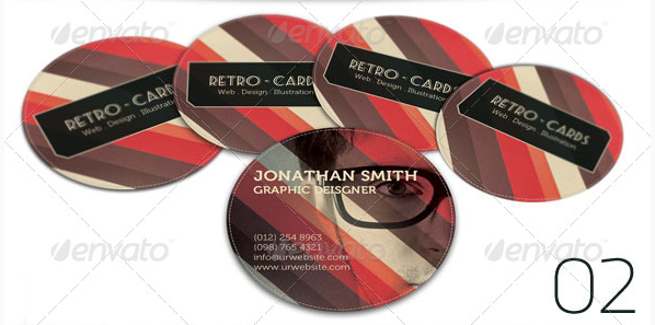Retro Round Shape Business Card