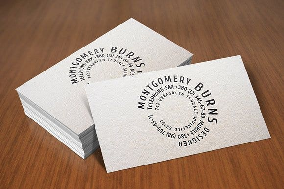 Round Business Card Template