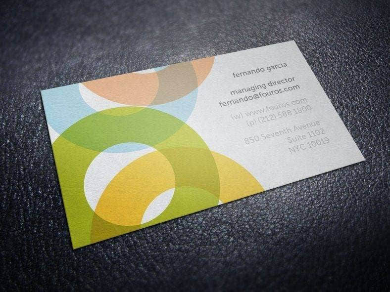 Round Service Business Card