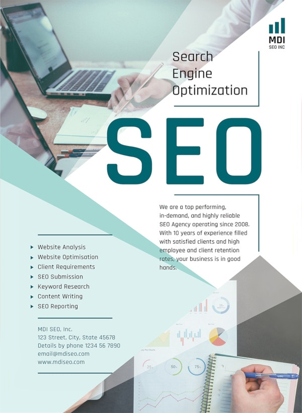 seo flyer template