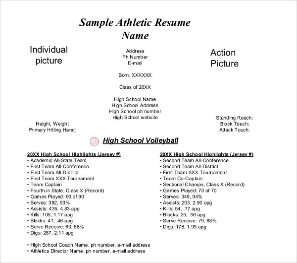 sample athletic resume - Sample High School Athletic Director Resume