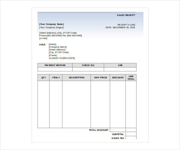 4 simple sales receipt templates pdf word free premium templates