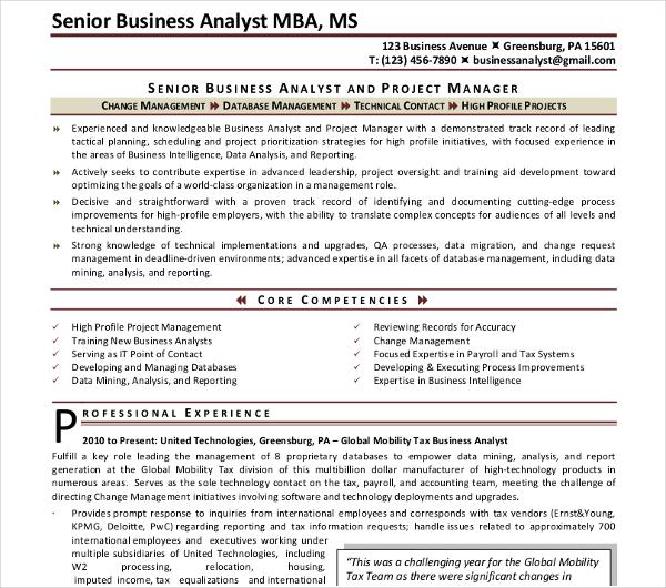 20  basic business resume templates