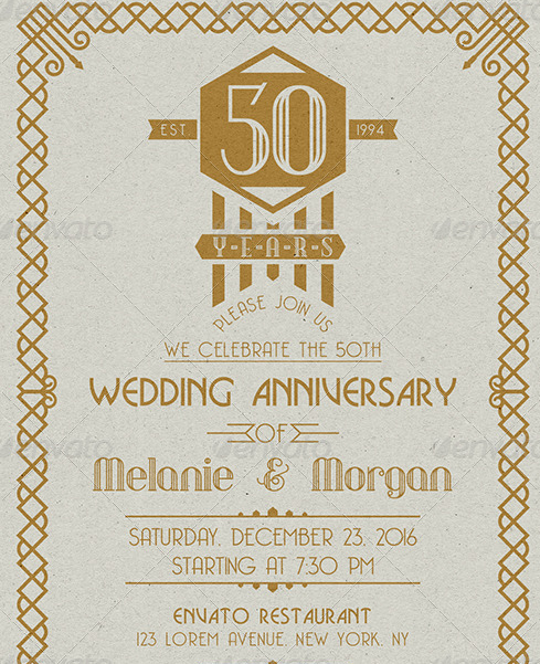 Sample Wedding Anniversary Card