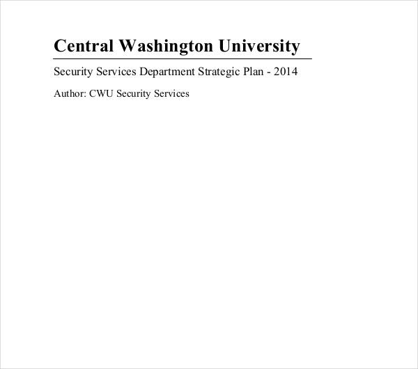 security services strategic plan