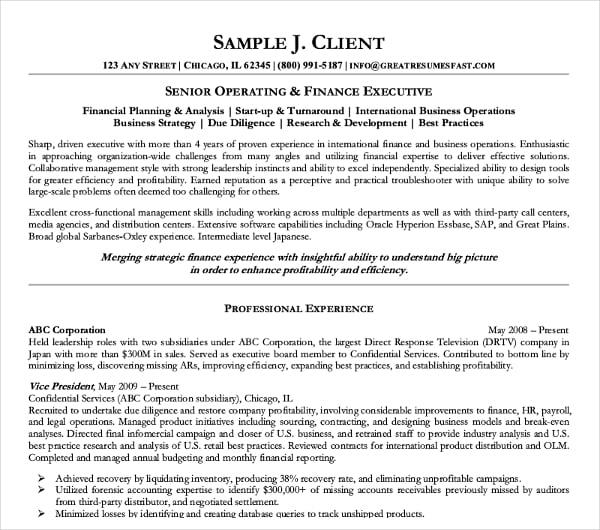 28+ Resume Format Templates - PDF, DOC | Free & Premium Templates