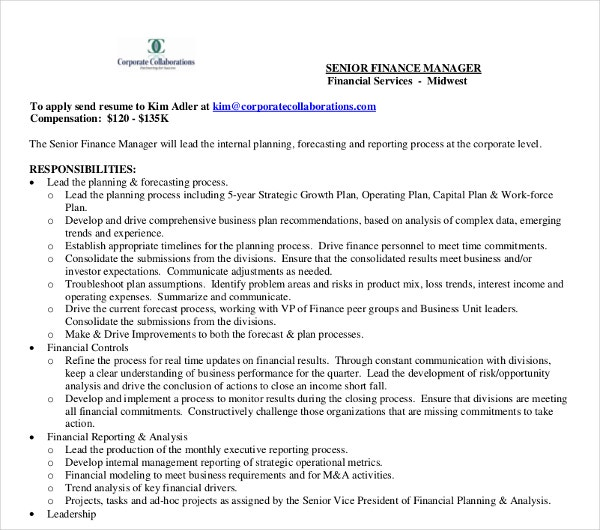 senoir finance manager resume1