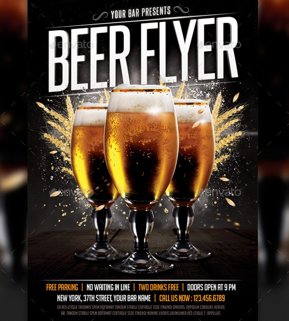 Simple Beer Flyer Template
