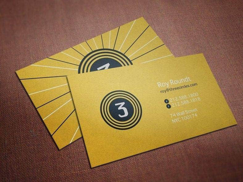 Simple Circles Business Card
