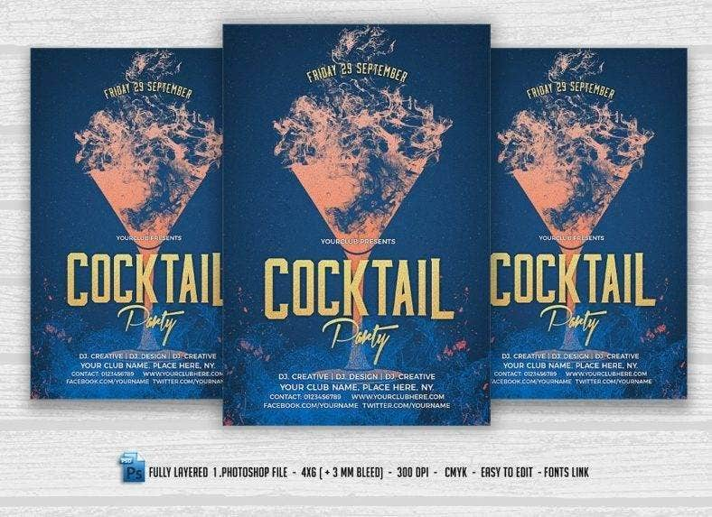 Simple Cocktail Party Flyer