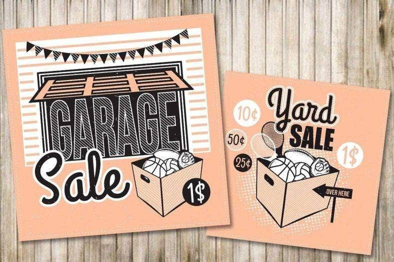 simple garage sale flyer 788x524