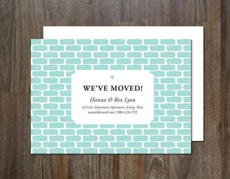 Simple Moving Announcement Card Template