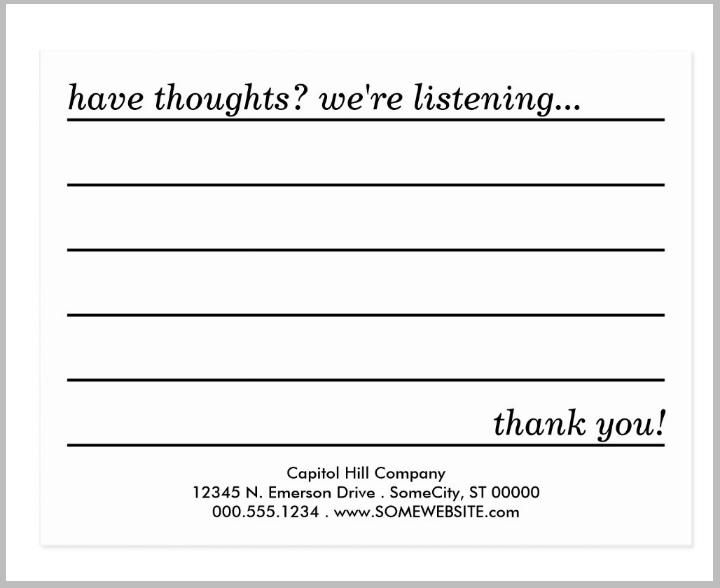 Comment card template 13 important life lessons comment for Comments html template
